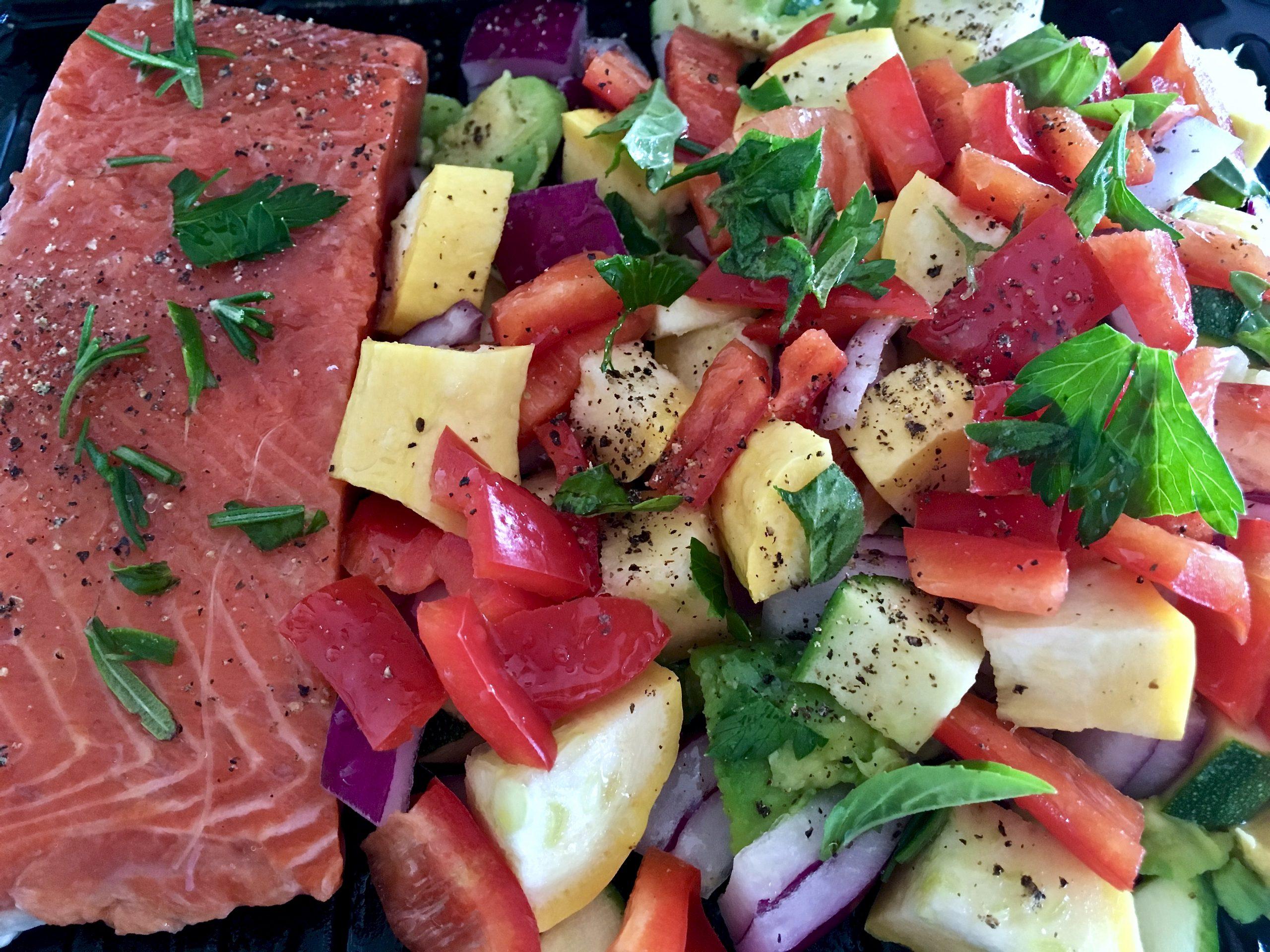 fish, veggies, yummy Kathy LaBella RDN, CDN, CSSD, ACE-CMES/CPT